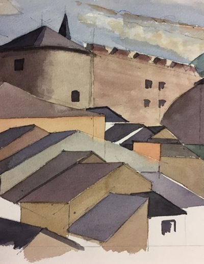 Emmanuel Jonquière - Architectures (Aquarelle)