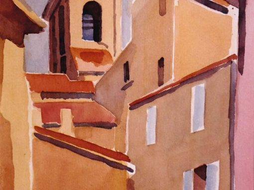 Architectures en aquarelle