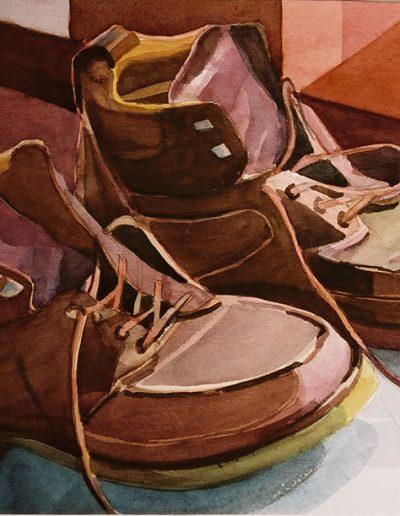 Emmanuel Jonquière - Chaussures (Aquarelle)