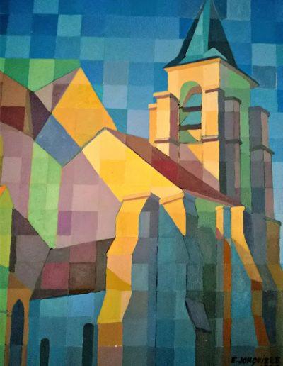 Emmanuel Jonquière - Eglise de Domont (Huile)