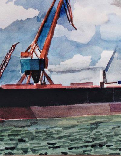 Emmanuel Jonquière - Marines (Aquarelle)-1998