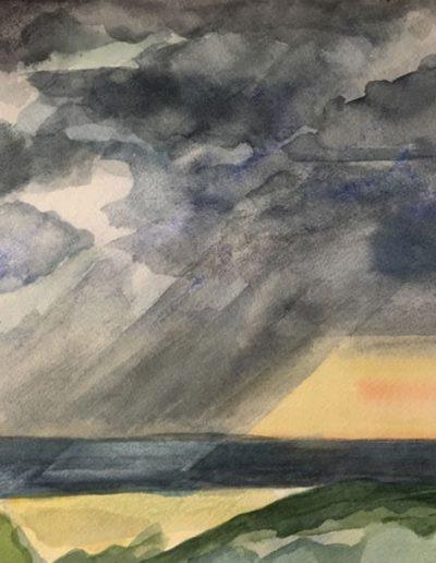 Emmanuel Jonquière - Paysage (Aquarelle)