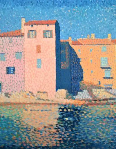 Emmanuel Jonquière - St-Trop (Pointillisme-huile)