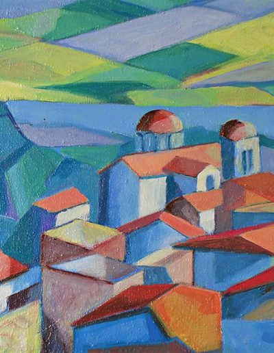 Emmanuel Jonquière - Village Chon 1961 (Huile)