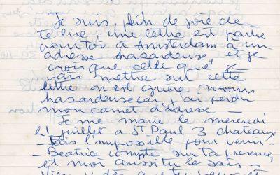 Lettre d'E. Dexheimer, architecte