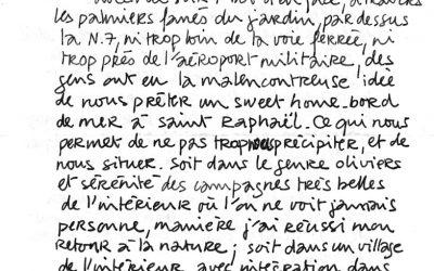 Lettres de Patrice Charton, ami peintre