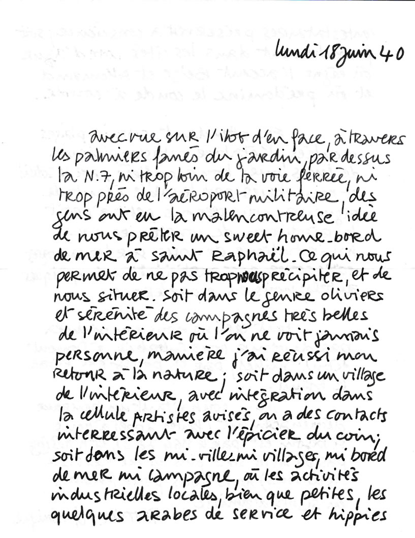 Lettre de Patrice Charton, ami peintre (18 juin 1940-page-1)