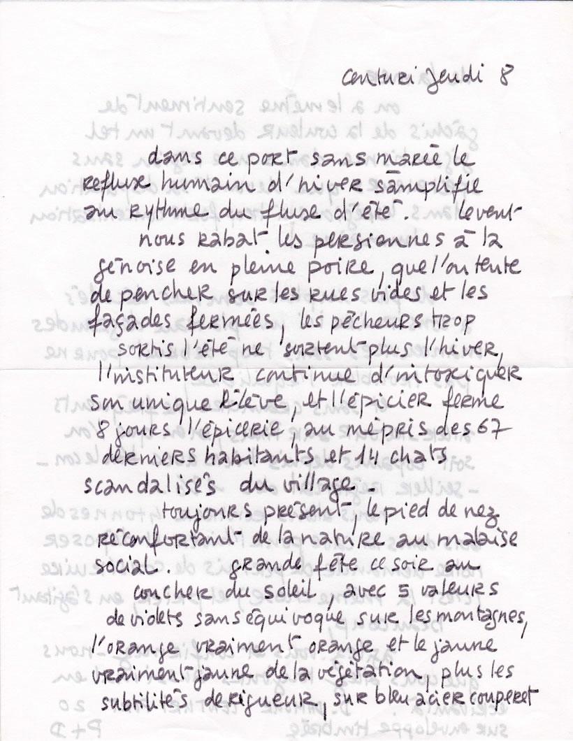 Lettre de Patrice Charton, ami peintre, de Centuri (page-1)