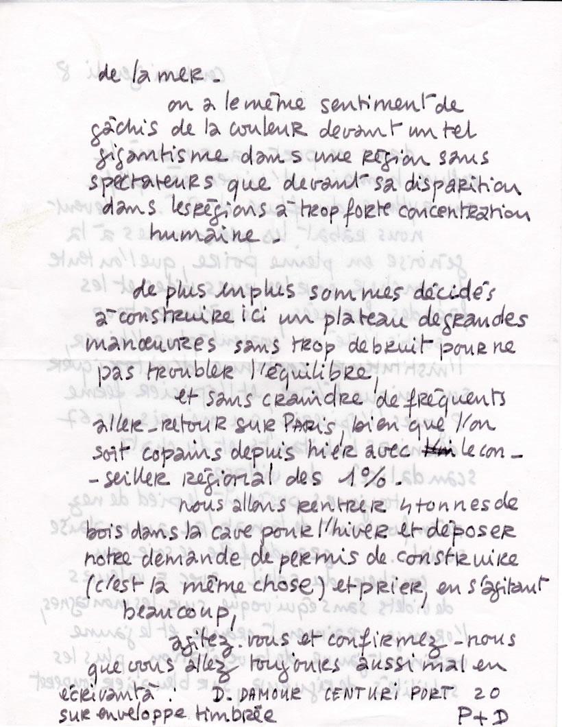 Lettre de Patrice Charton, ami peintre, de Centuri (page-2)