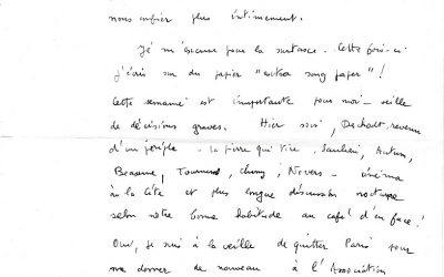 Lettres de D. Hamot, photographe