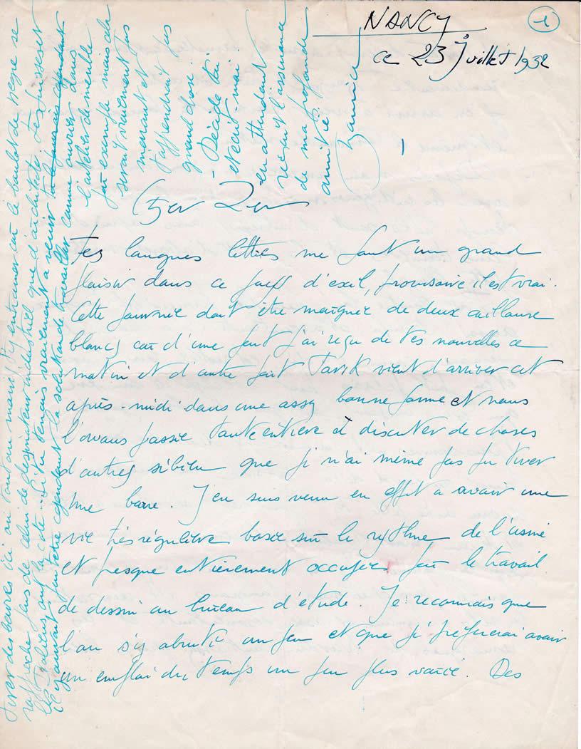 Lettre de M. Silvy, architecte (23 juillet 1952-page-1)