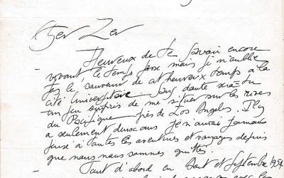 Lettres de Maurice Silvy, architecte
