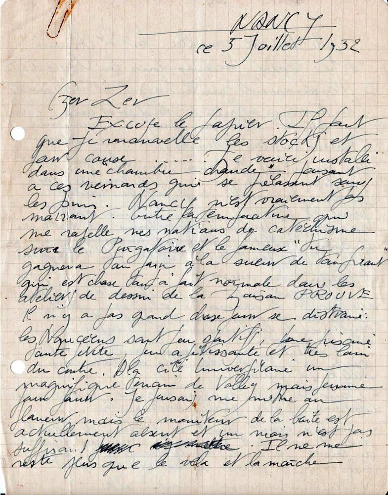 Lettre de M. Silvy, architecte (5 juillet 1952-page-1)